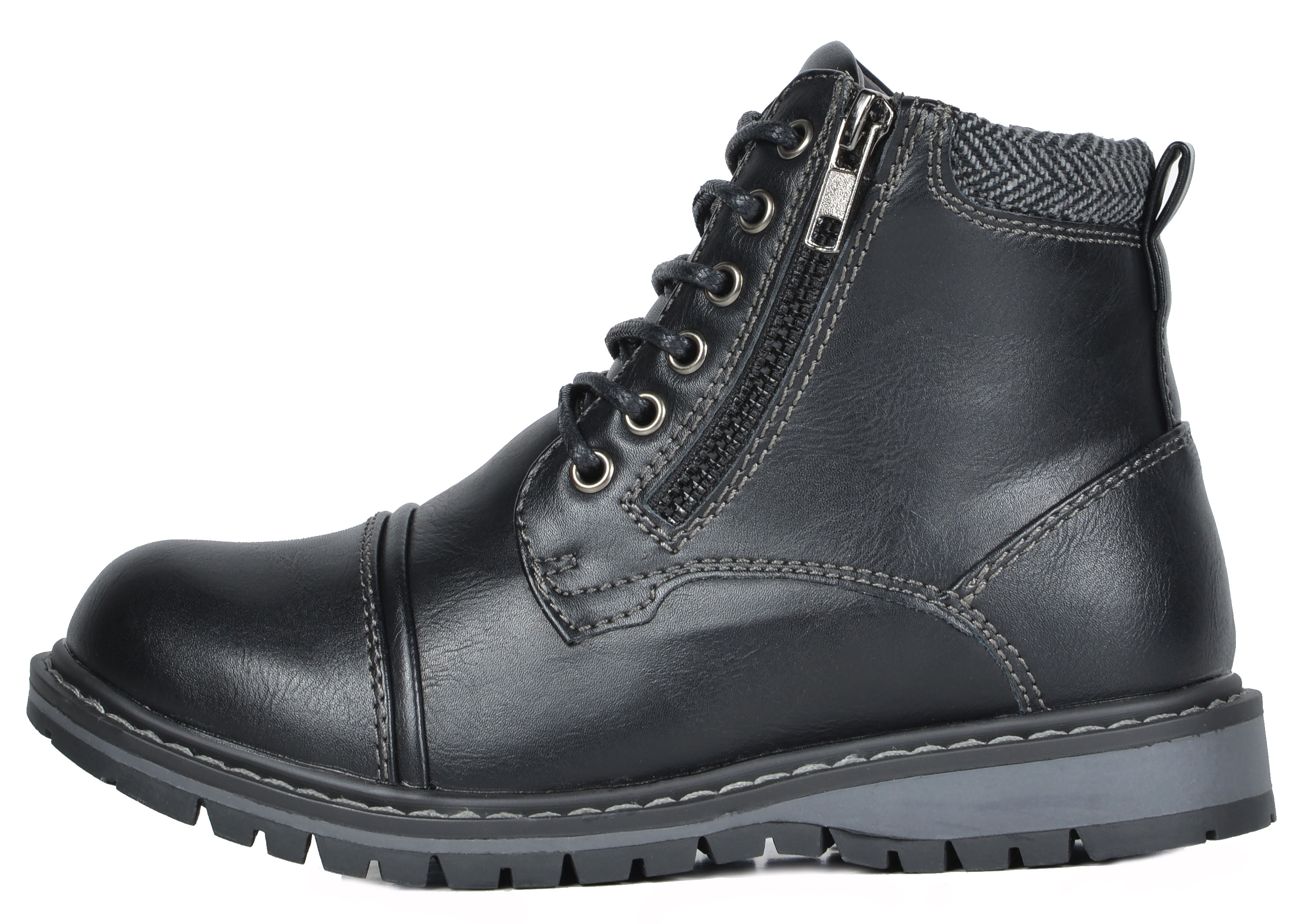Bruno Marc Boys Toddler//Kids New Combat Faux Fur Winter Snow Ankle Riding Boots