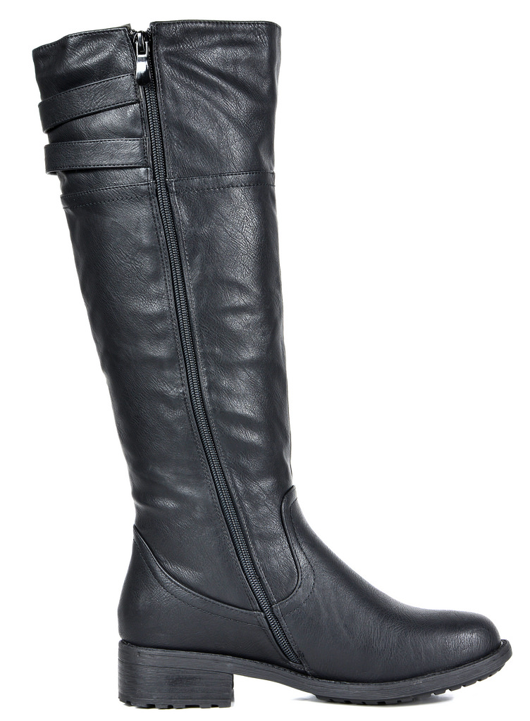 DREAM PAIRS Womens BRADENN Military Combat Knee High Boots Wide Calf Available