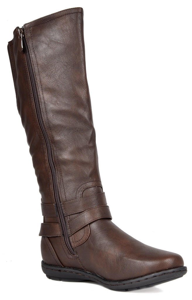 Wide Calf Faux Fur-Lined  Knee High Winter Snow Riding Boots DREAM PAIRS Women