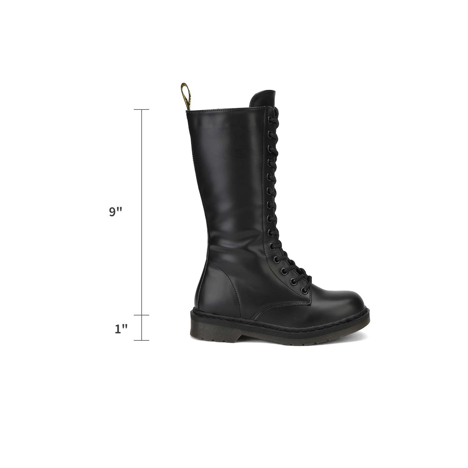 DREAM PAIRS Girls Kids Martin Combat Boots Lace-Up Casual Leather Round Toe
