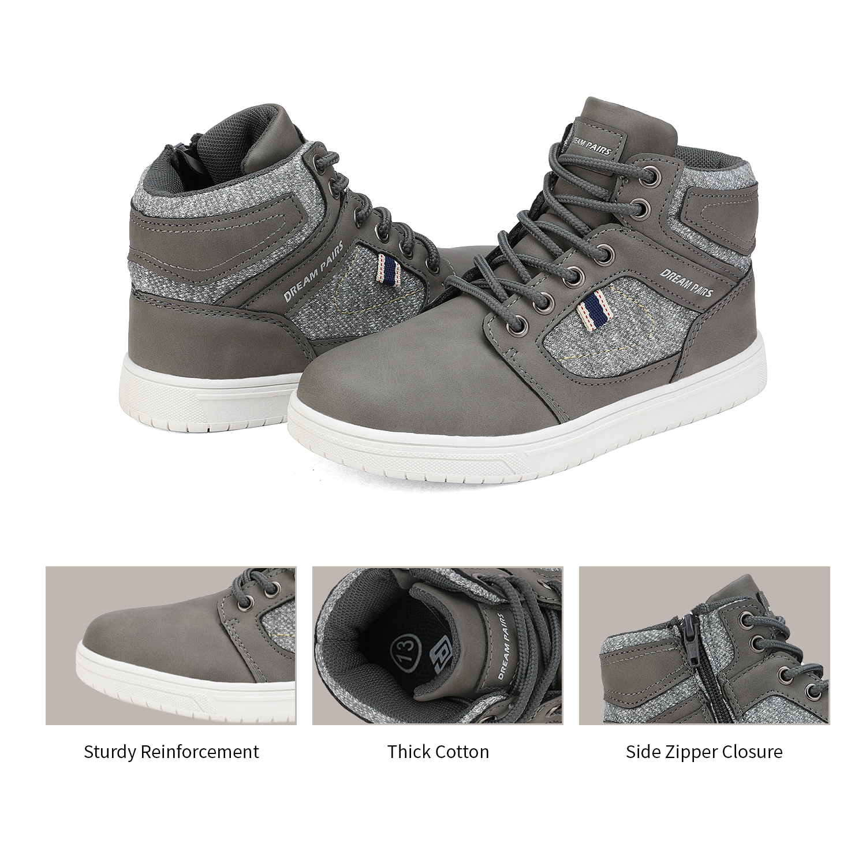 DREAM PAIRS  Zipper Boys Girls Kids Sneakers High Top Casaul Shoes Size Toddler