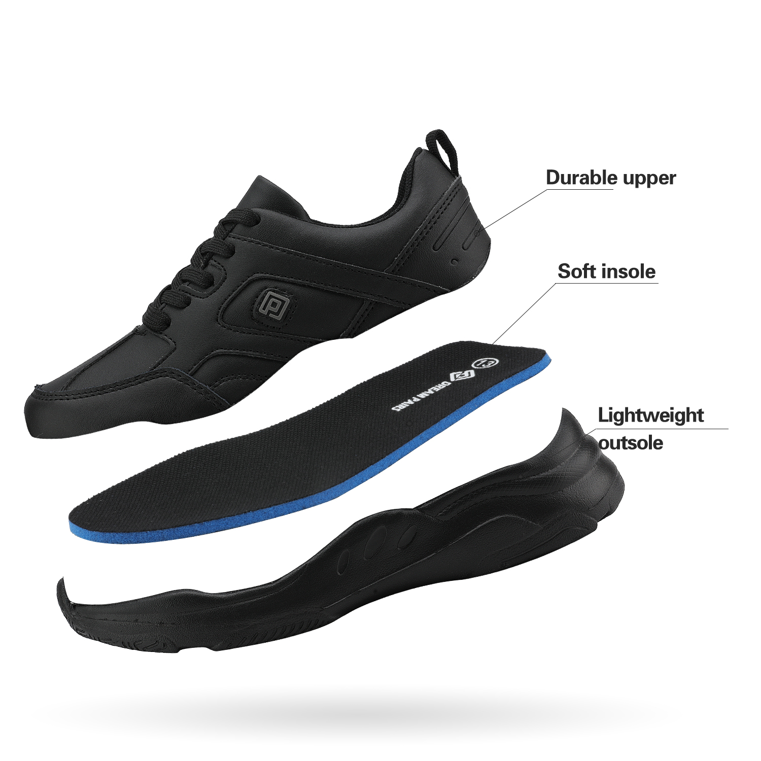 DREAM PAIRS Children Sports Kids Shoes Boys Girls Running Sneakers Athletic Lace