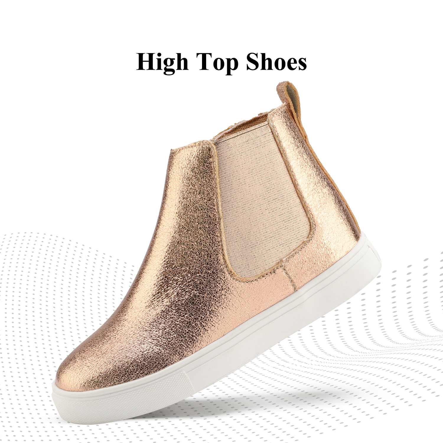 DREAM PAIRS Kids//Toddler Boys Girls Toe Slip On High Top Sneaker Shoes Boots