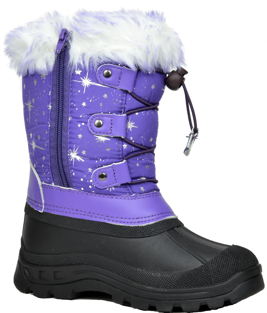 DREAM PAIRS Boys /& Girls KSNOW Insulated Waterproof Rubber Snow Boots Outdoor