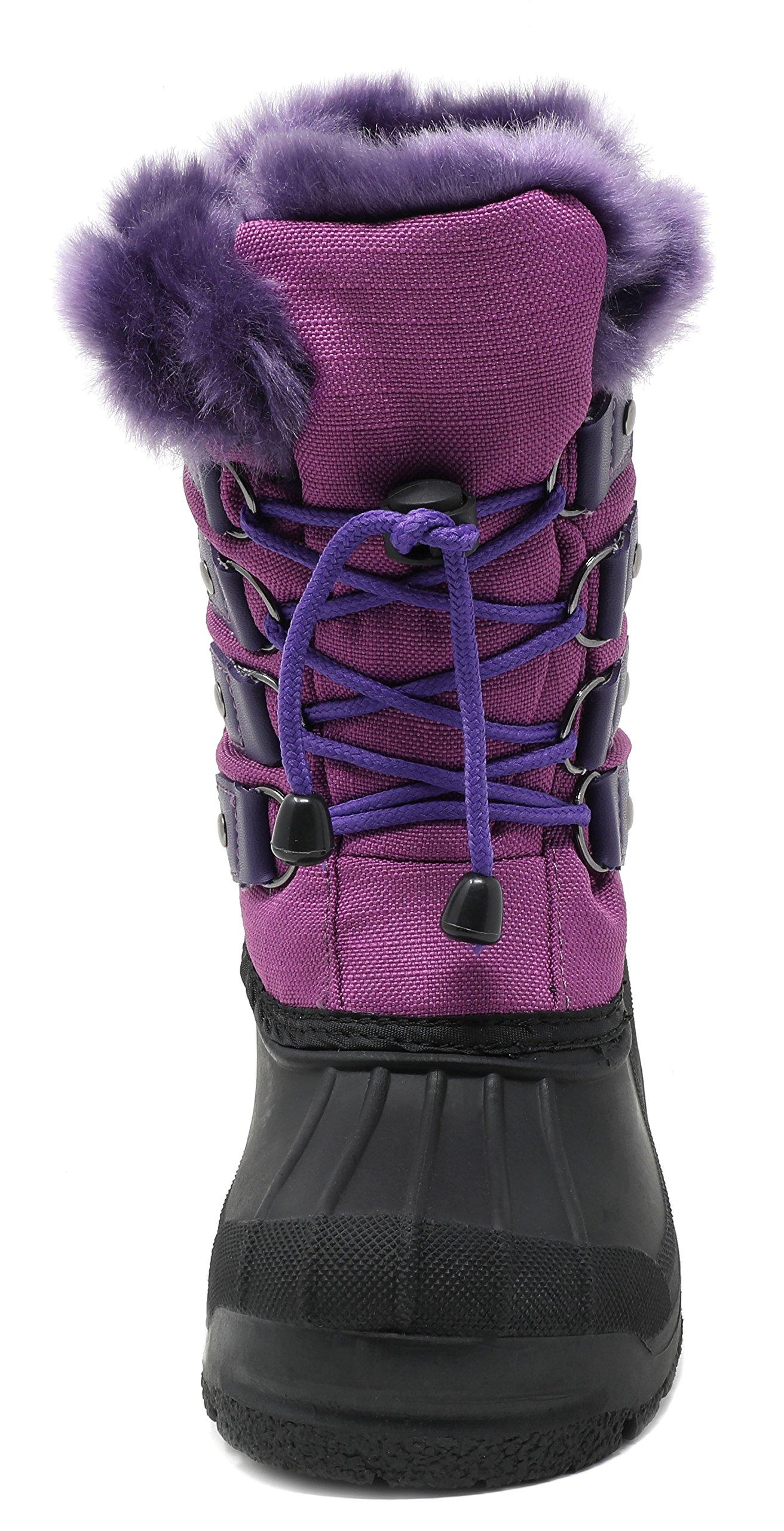 Kids Boys Girls Toddler Insulated Fur Waterproof Winter Snow Boots