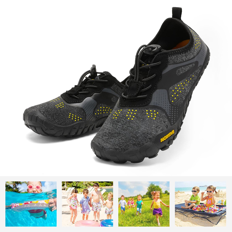 NORTIV 8 Boys Girls Kids Water Shoes Barefoot Swim Diving Surf Aqua Sport Beach