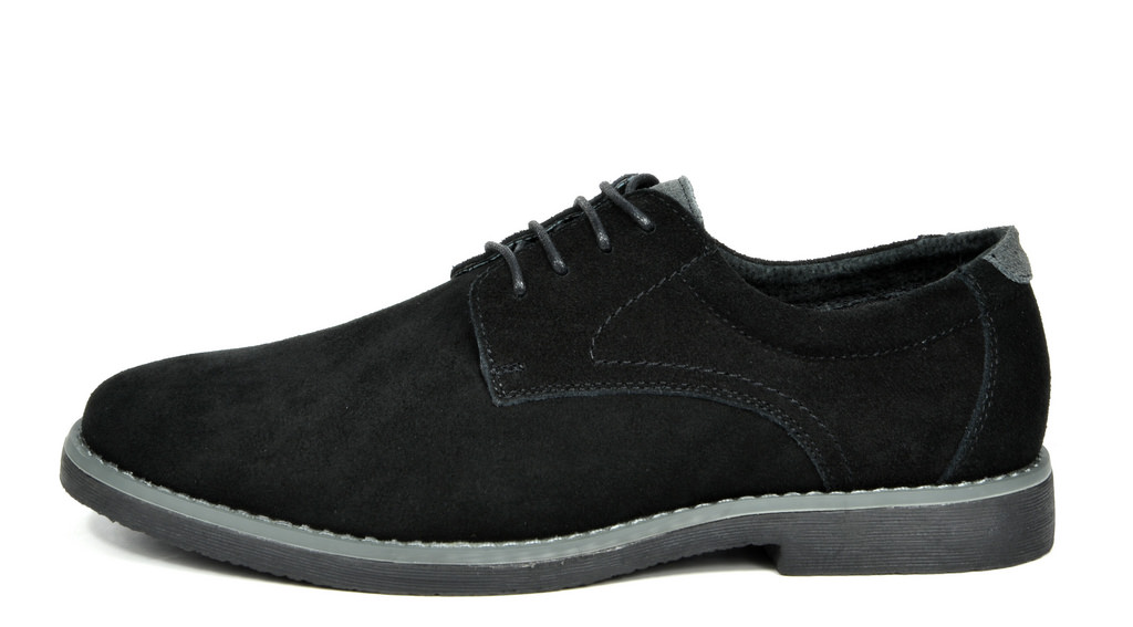 BRUNO MARC WRANGLE Mens Suede Leather Casual Flat Lace up Dress Oxfords Shoes