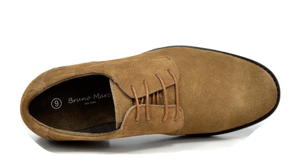 BRUNO MARC WRANGLE Homme en Cuir et Daim Casual Plates à Lacets Robe derbies chaussures