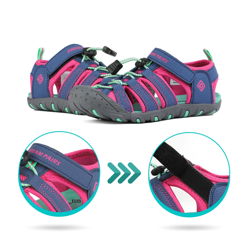 DREAM PAIRS Boys Girls 181105k Closed-Toe Outdoor Summer Sport Sandals