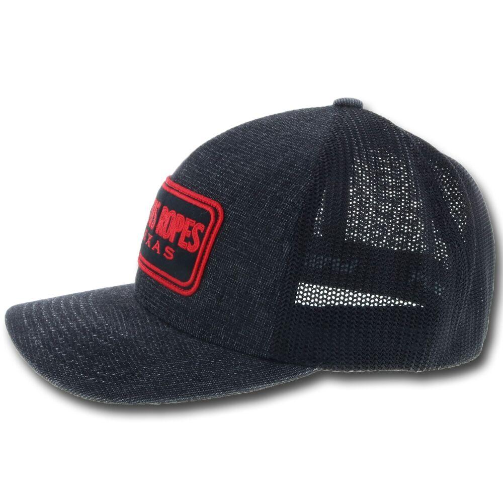 HOOey Cactus Ropes 44 Black Flexfit Hat
