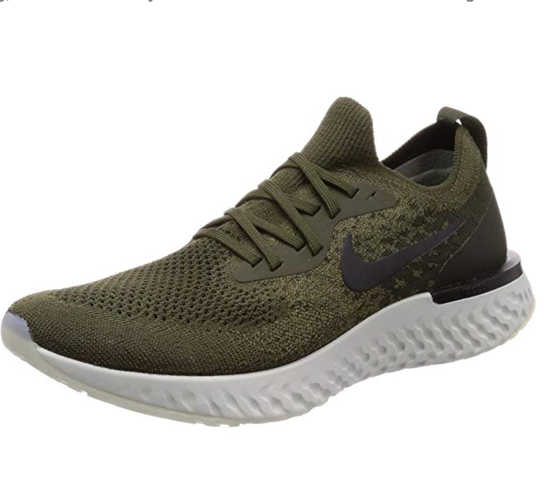 Men's Nike Epic React Flyknit Running Shoes Cargo Khaki/Camper Choose Comfortable