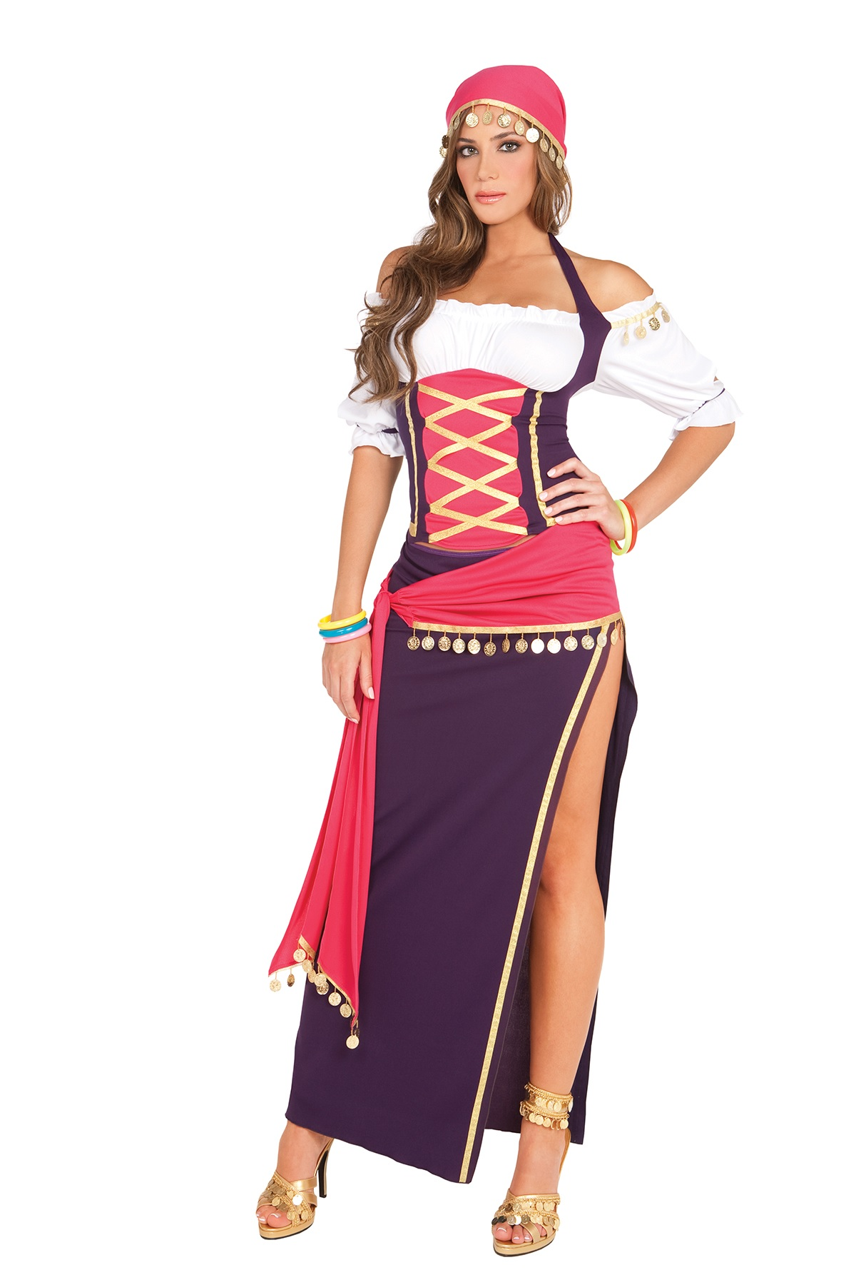 Sexy-Women-039-s-Adult-Fortune-Teller-Halloween-  sc 1 st  eBay & Sexy Womenu0027s Adult Fortune Teller Halloween Costume Gypsy Girl Role ...