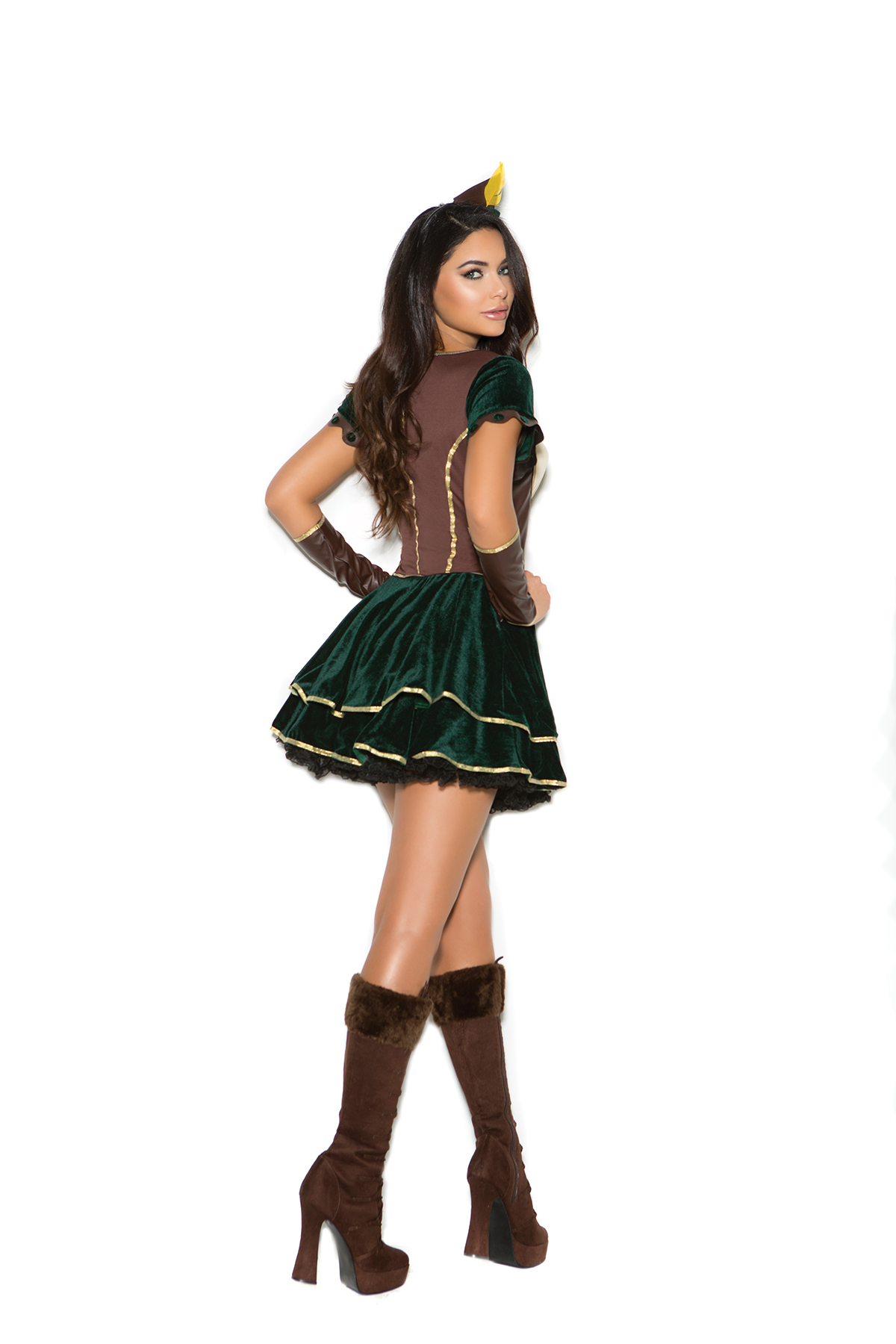 Sexy-3-Pc-Women-039-s-Adult-Robin-  sc 1 st  eBay & Sexy 3 Pc Womenu0027s Adult Robin Hood Theme Adorbale Archer Dress ...