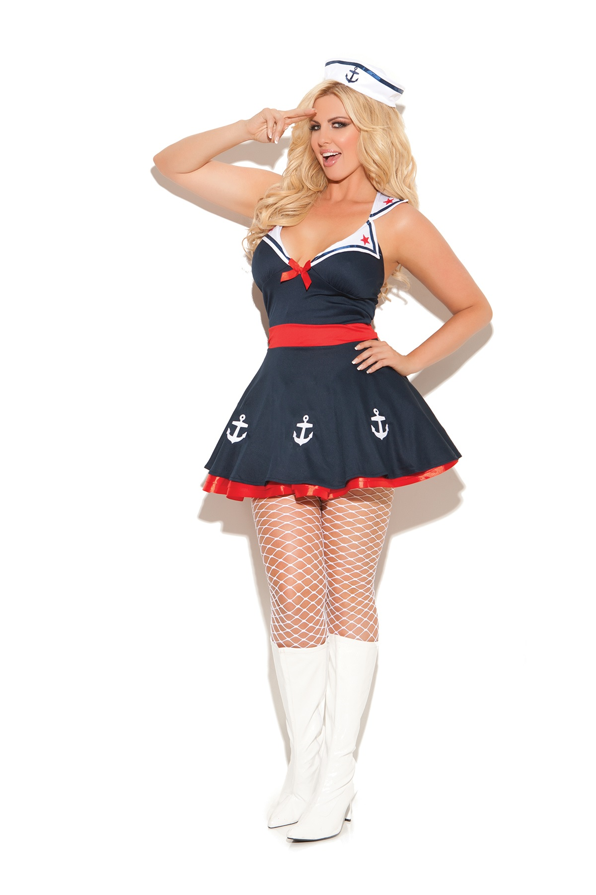 Sexy-Women-039-s-Adult-Sailor-Girl-Dress-  sc 1 st  eBay & Sexy Womenu0027s Adult Sailor Girl Dress Halloween Costume Navy Role ...