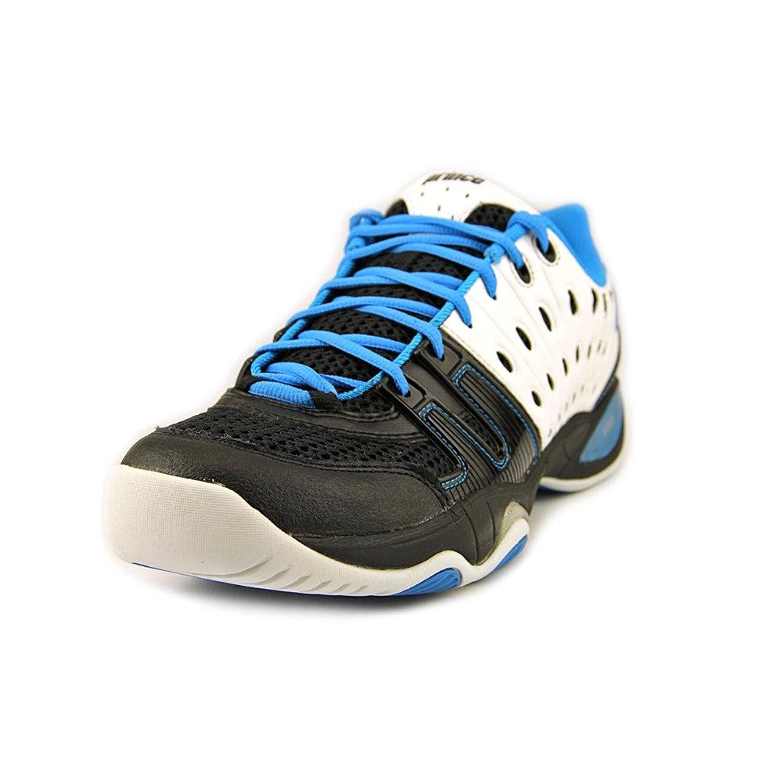 prince s t22 athletic tennis shoes black white blue