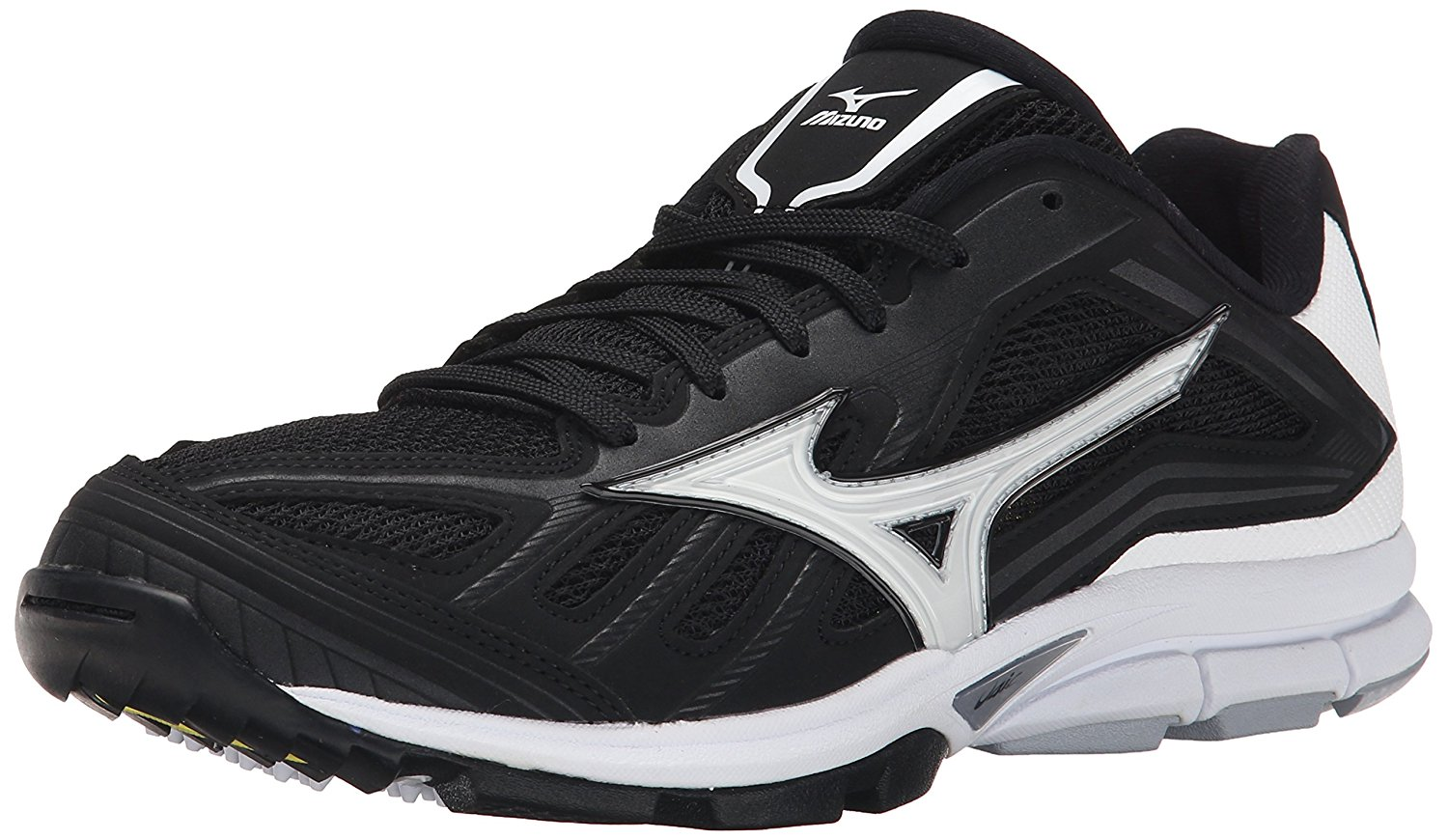 Mixuno White And Black Turf Shoes