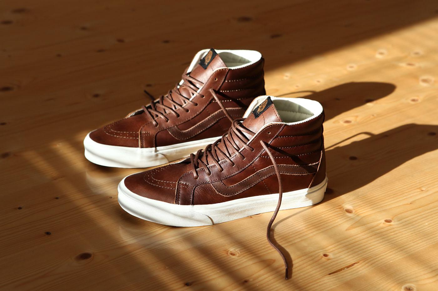 vans sk8 hi reissue brown leather