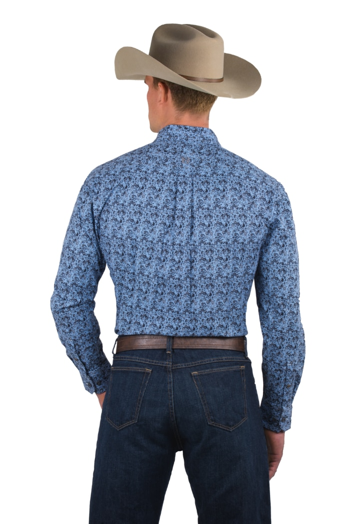 Noble Outfitters 11002-700 Mens  Long Sleeve Button Shirt FAST FREE USA SHIPPING