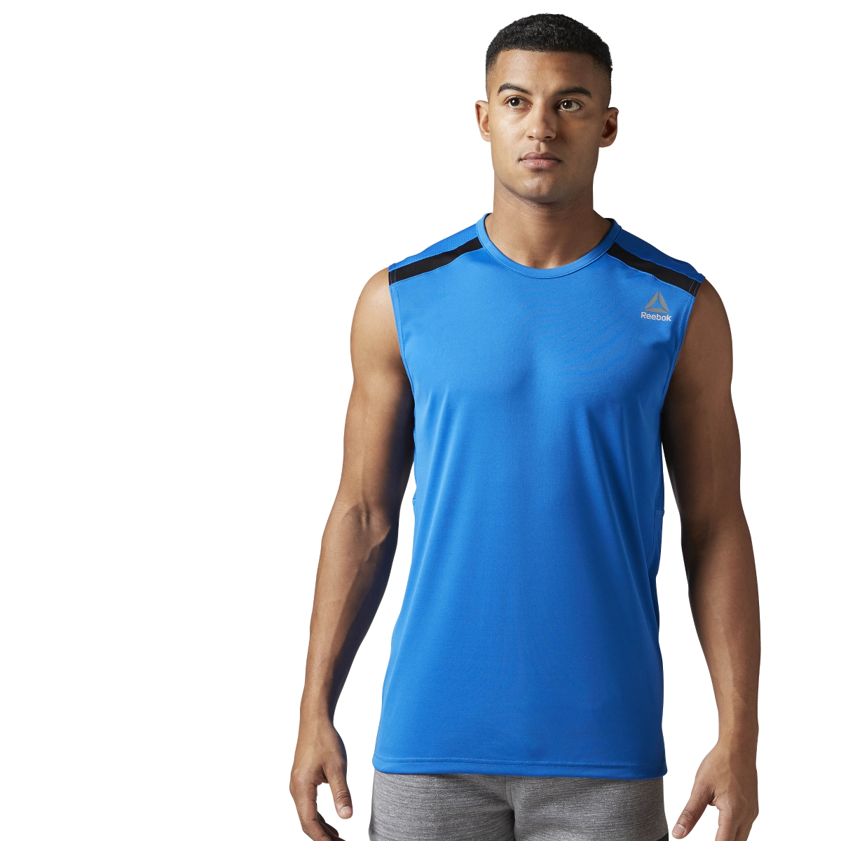 Reebok men 39 s workout ready tech tank fitness training Fitness shirts for men