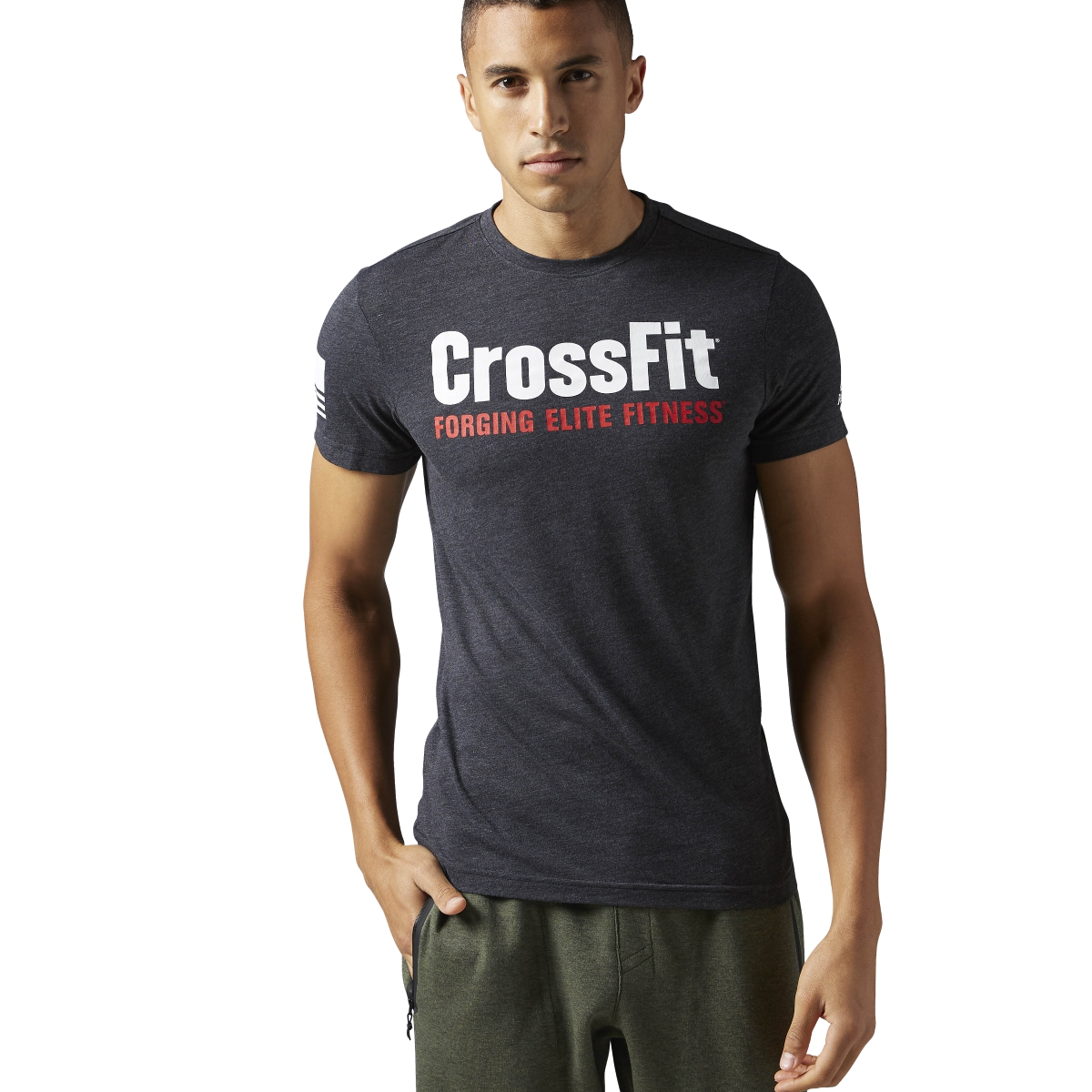 reebok men 39 s crossfit forging elite fitness tee athletic. Black Bedroom Furniture Sets. Home Design Ideas