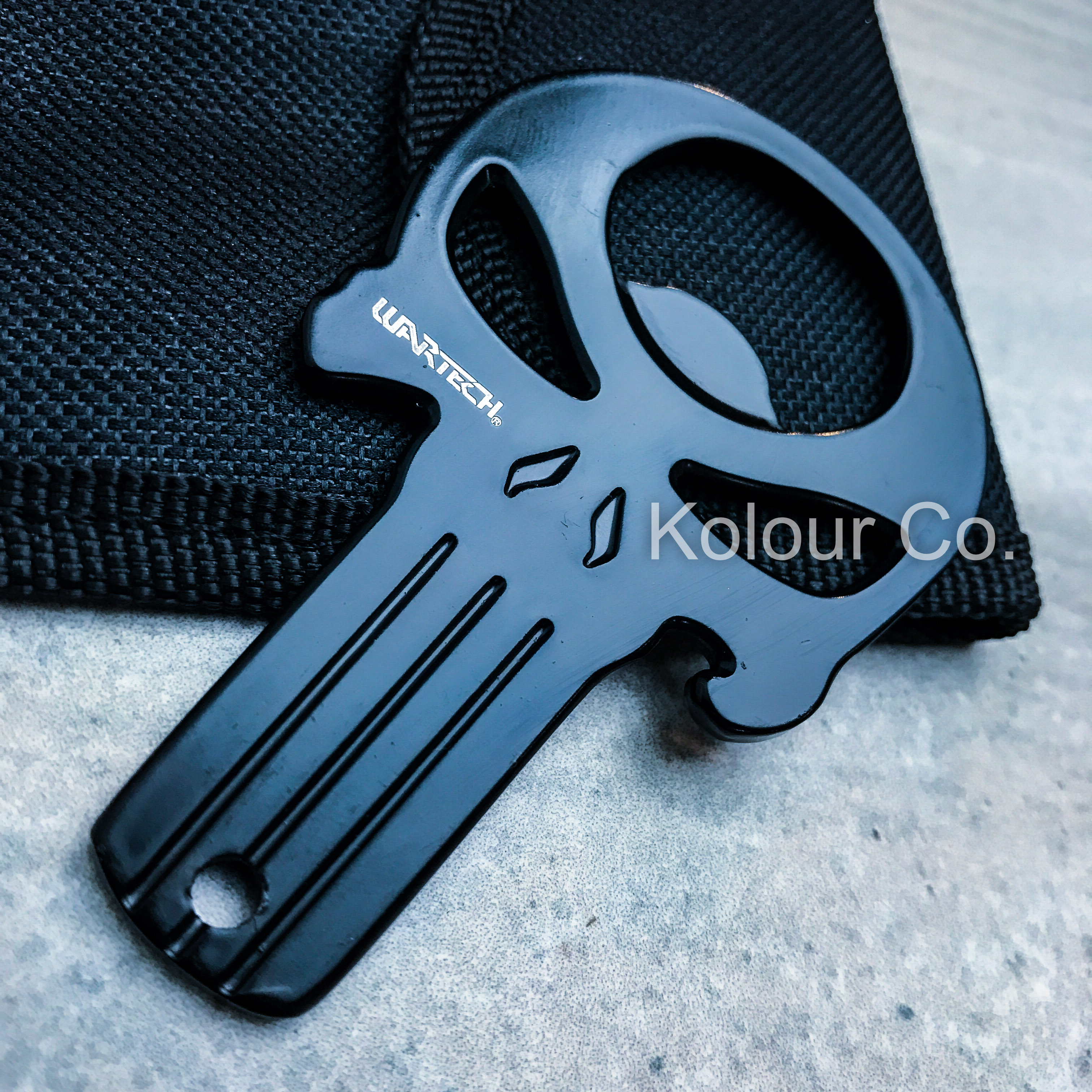 NEW PUNISHER SKULL Beer Bottle Opener EDC KEYCHAIN USA Flag w/POUCH ...