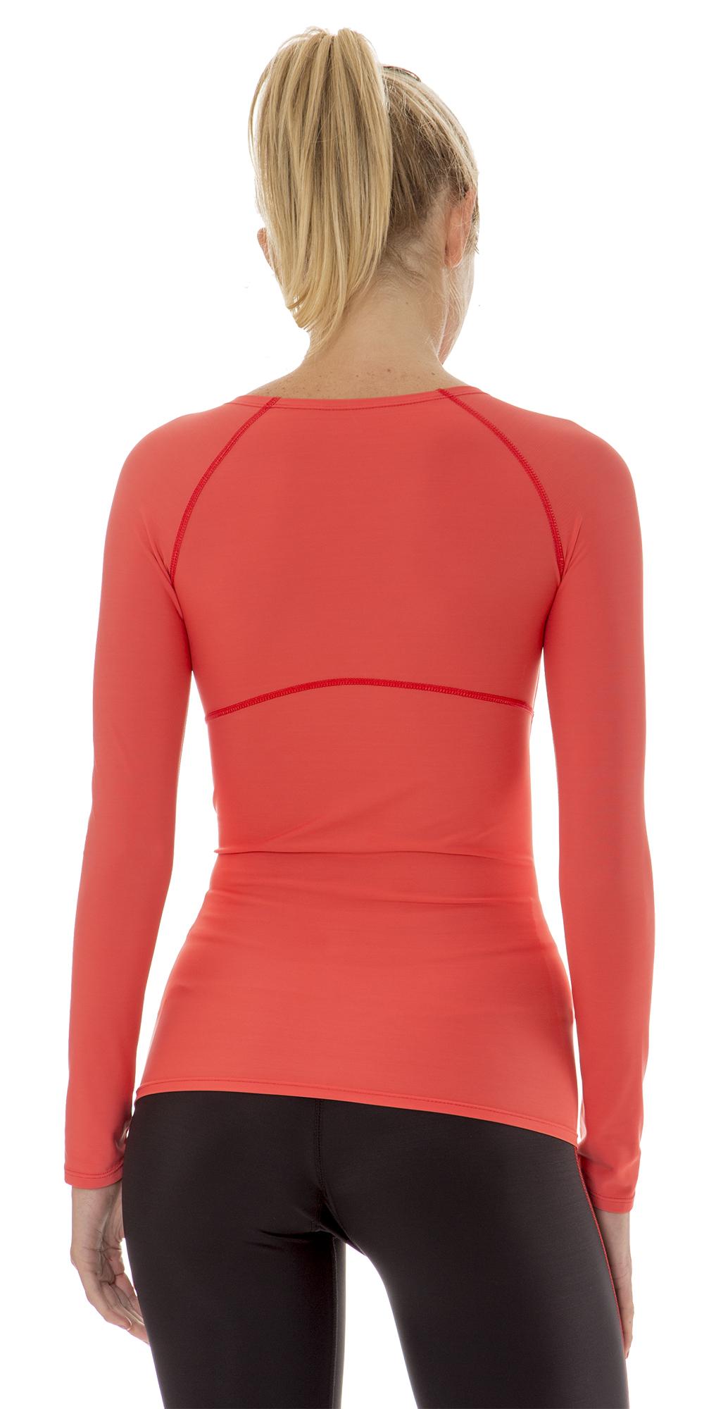 Aeroskin dry womens compression long sleeve running shirt for Long sleeve running shirt womens