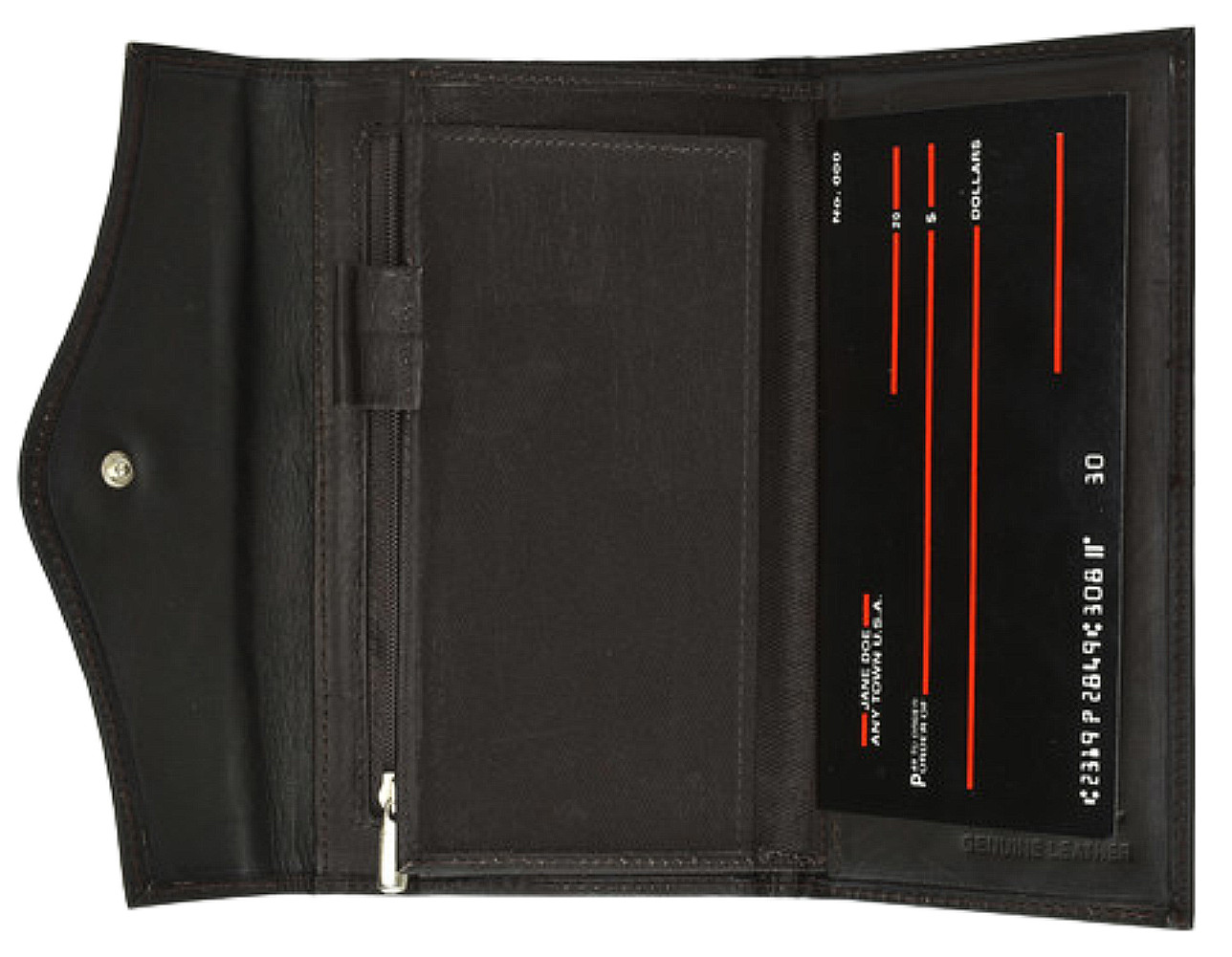 Ladies /'/'checkbook/'/' style leather wallet