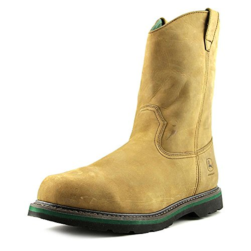 John Deere Men/'s 11-Inch Genuine Leather Non-Safety Toe Wellington Work Boots