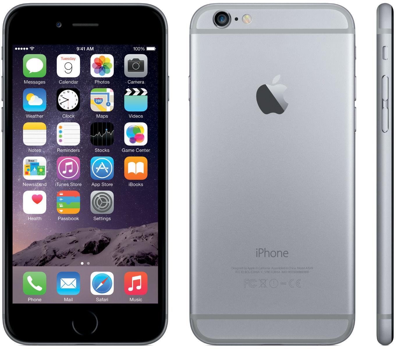 apple iphone 6 16gb unlocked gsm ios smartphone black. Black Bedroom Furniture Sets. Home Design Ideas