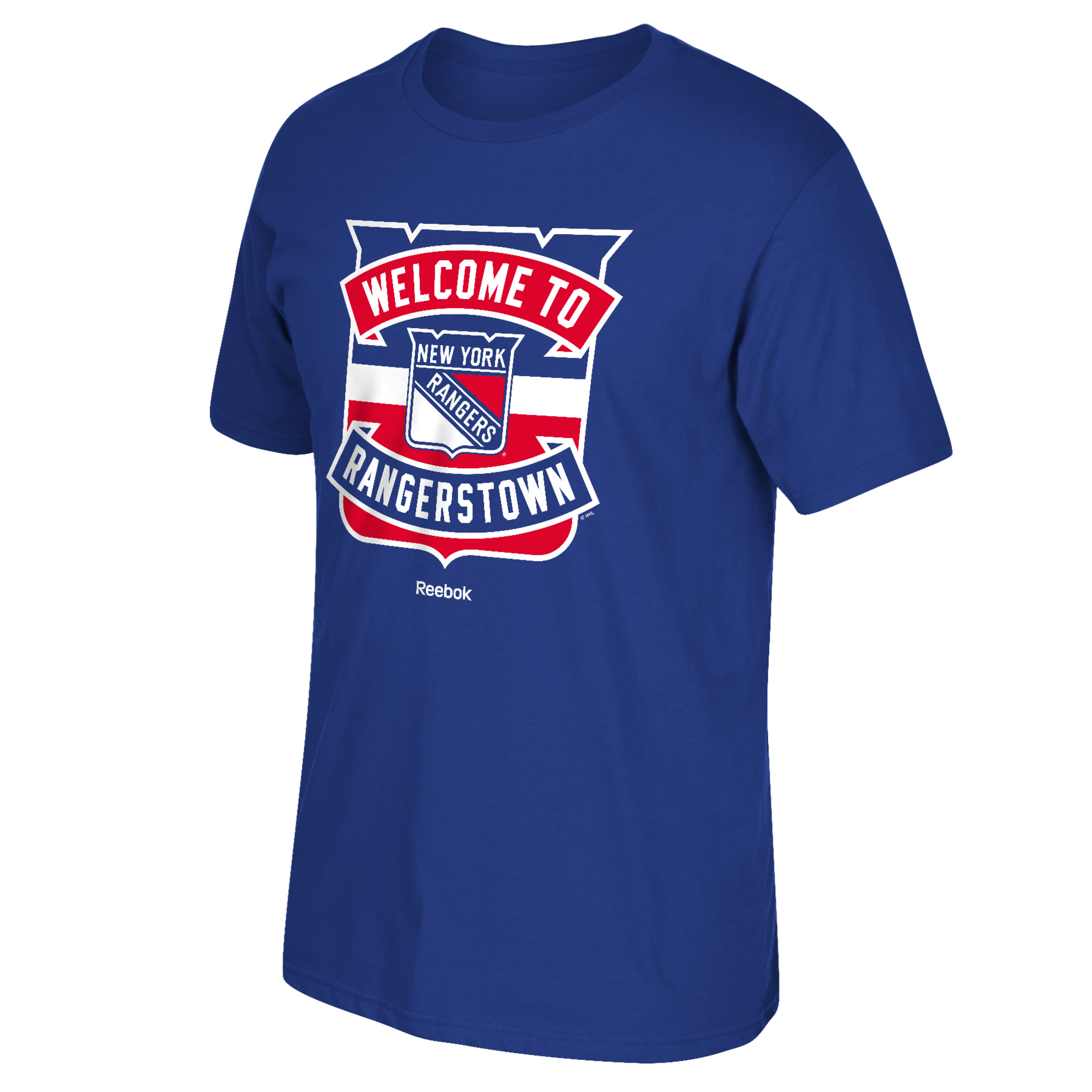 """New York Rangers /""""Welcome to Rangerstown/"""" Reebok NHL Men T Shirt Blue"""