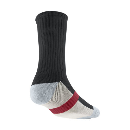 895e5fa6df5cf Details about [437373-002] AIR JORDAN TRUE CREW ADULTS UNISEX APPAREL GREY  RED SOCK ACCESSORY