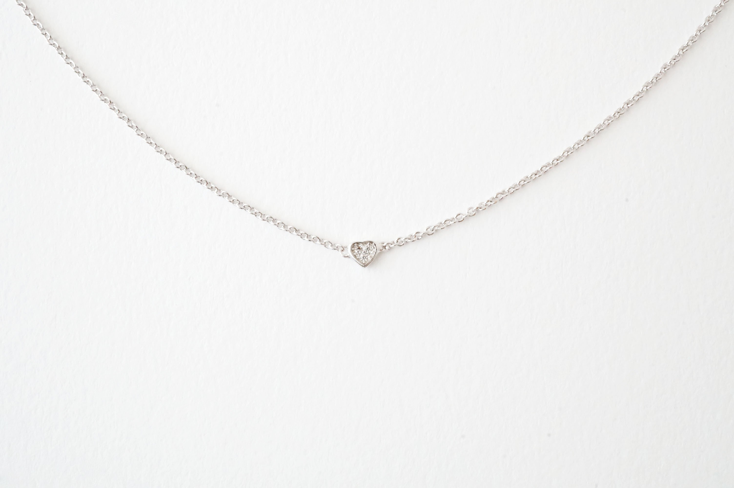 mini lennse isabel product heart necklace