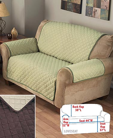Reversible Quilted Furniture Sofa Chair /& Loveseat Covers Polyester Machine Care