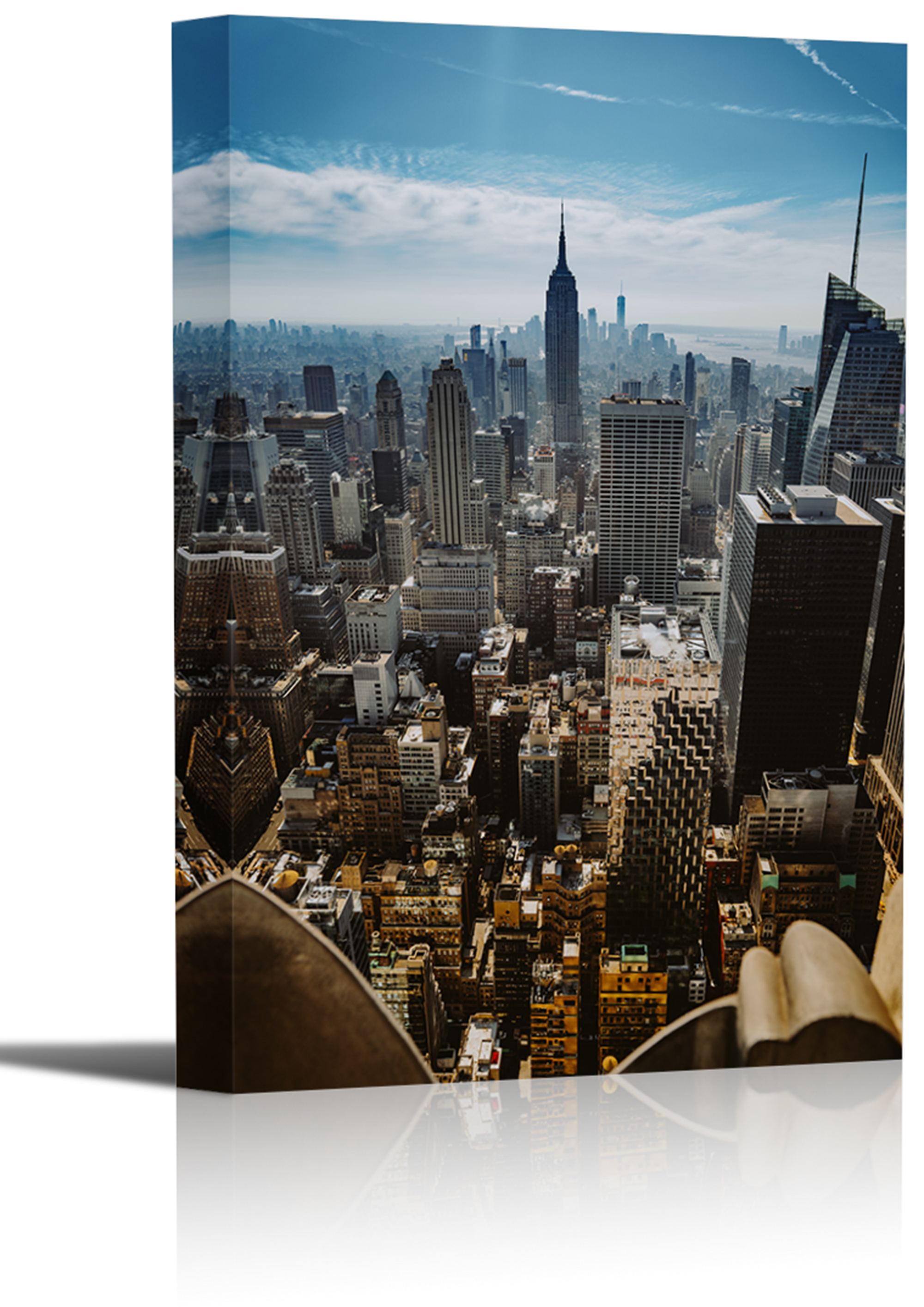 Top Of The Rock New York City Art Print Wall Decor Image Canvas Stretched Framed