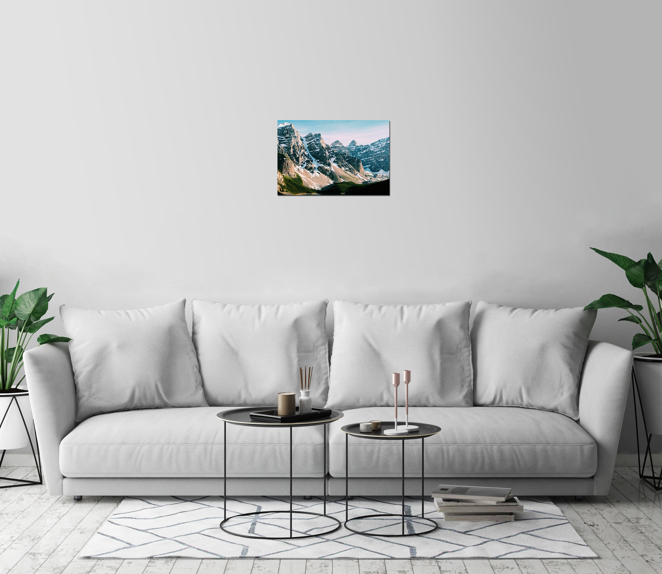 Picos nevados Bosque Montañas Impresión de Arte Decoración de pared ...