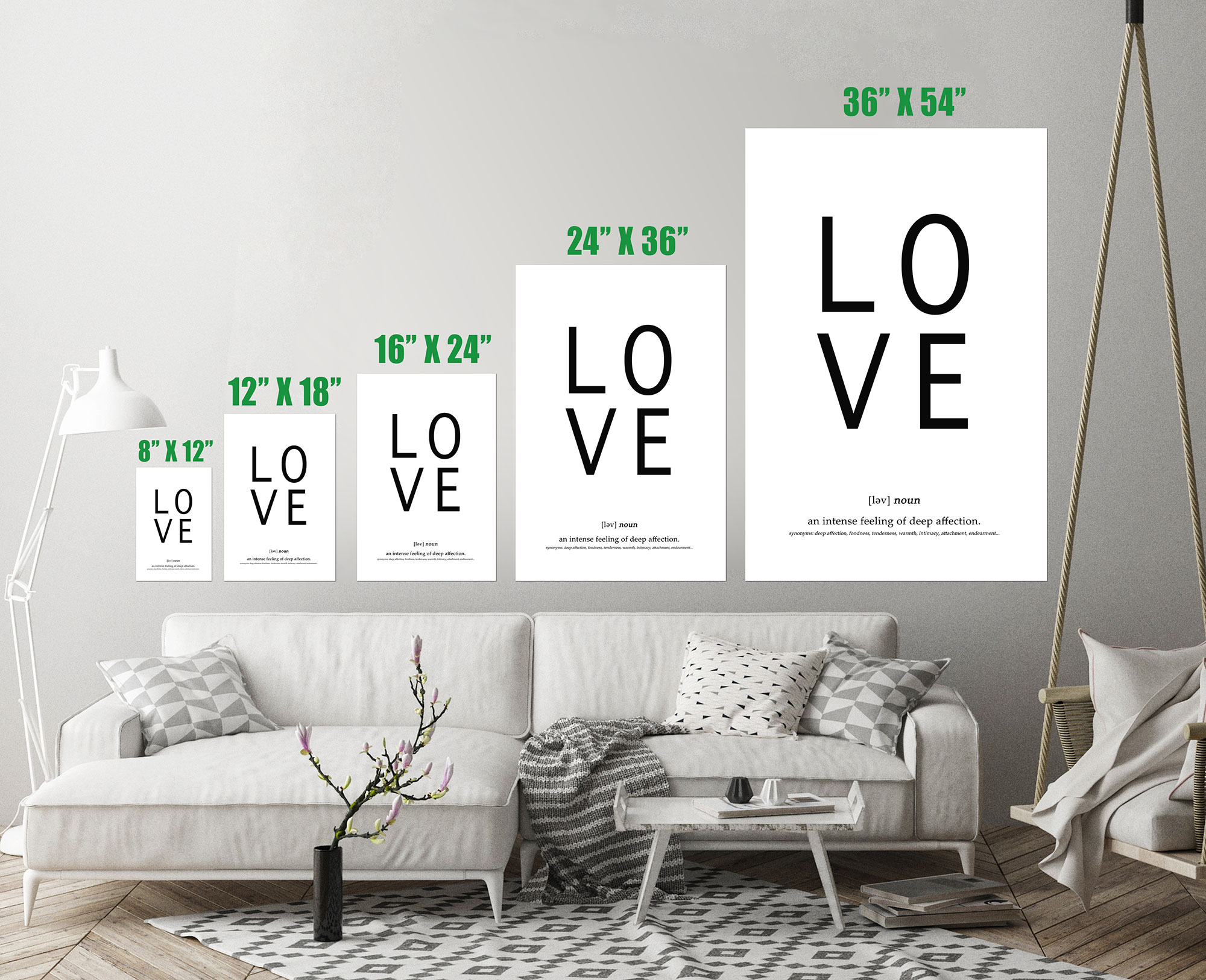Love Definition Quote Typography Word Art Print Wall Decor Image ...