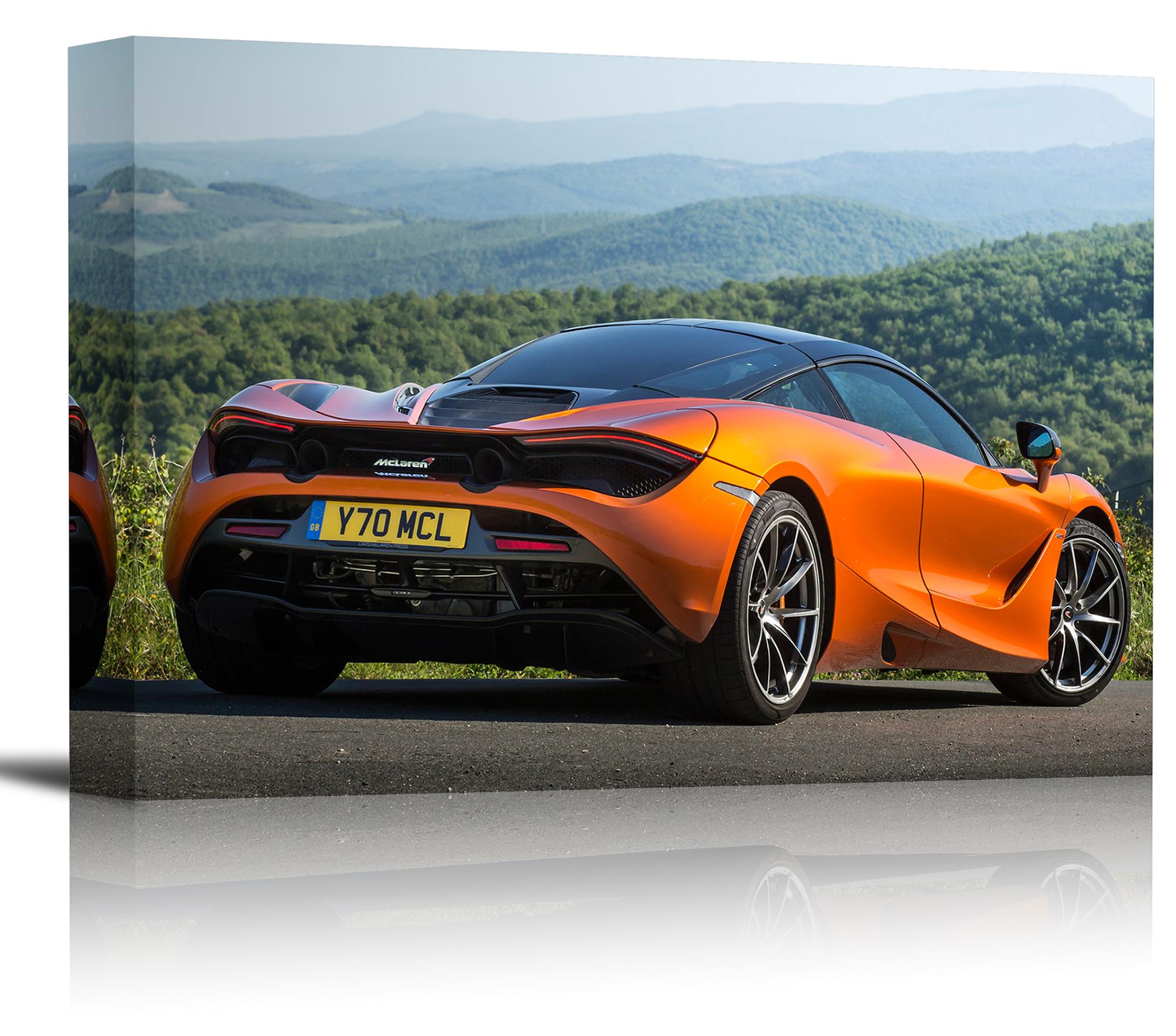 2018 McLaren 720S Orange Car Art Print Wall Decor Image Canvas ...