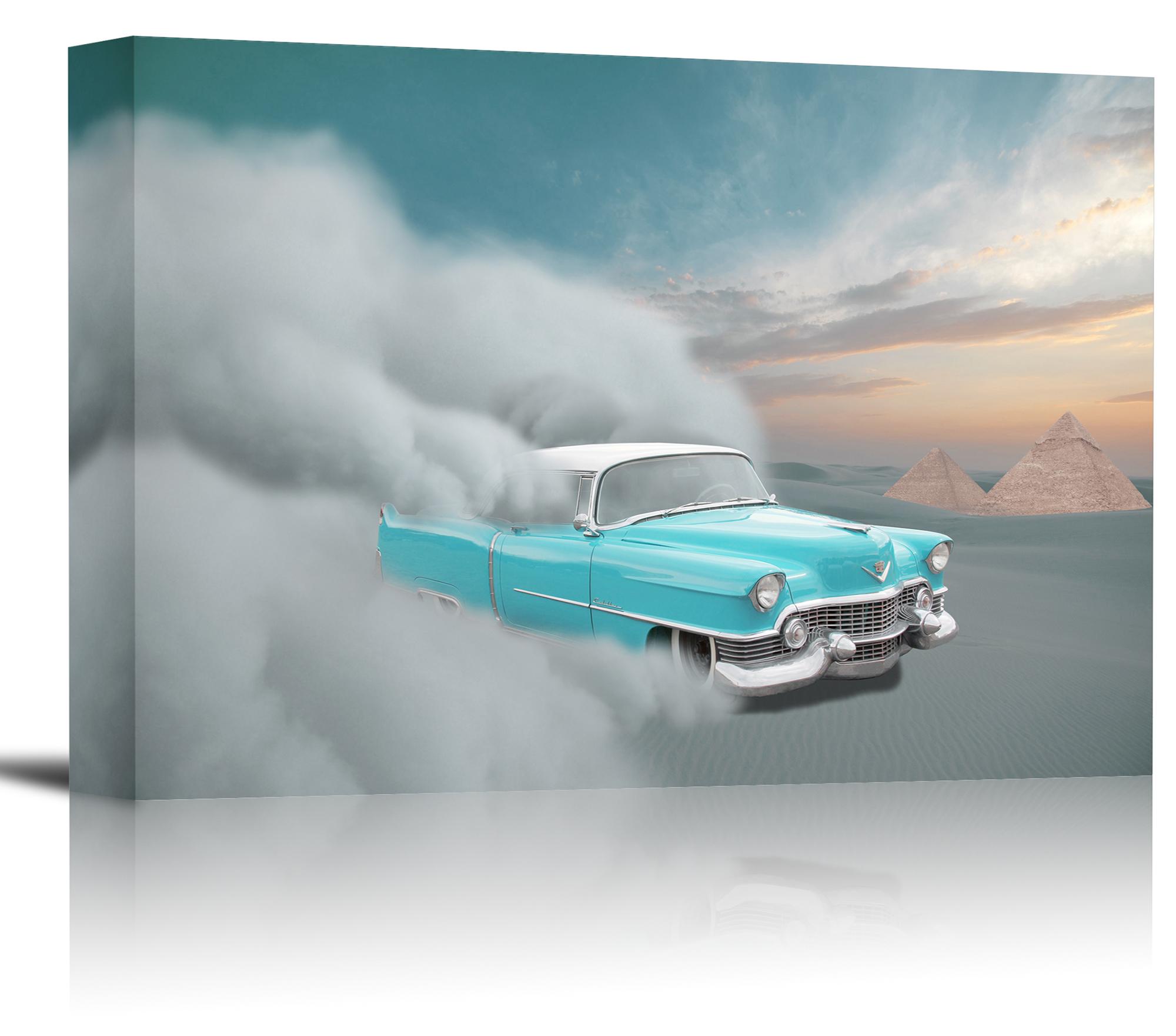 Cadillac Classic Desert Car Art Print Wall Decor Image - Canvas ...