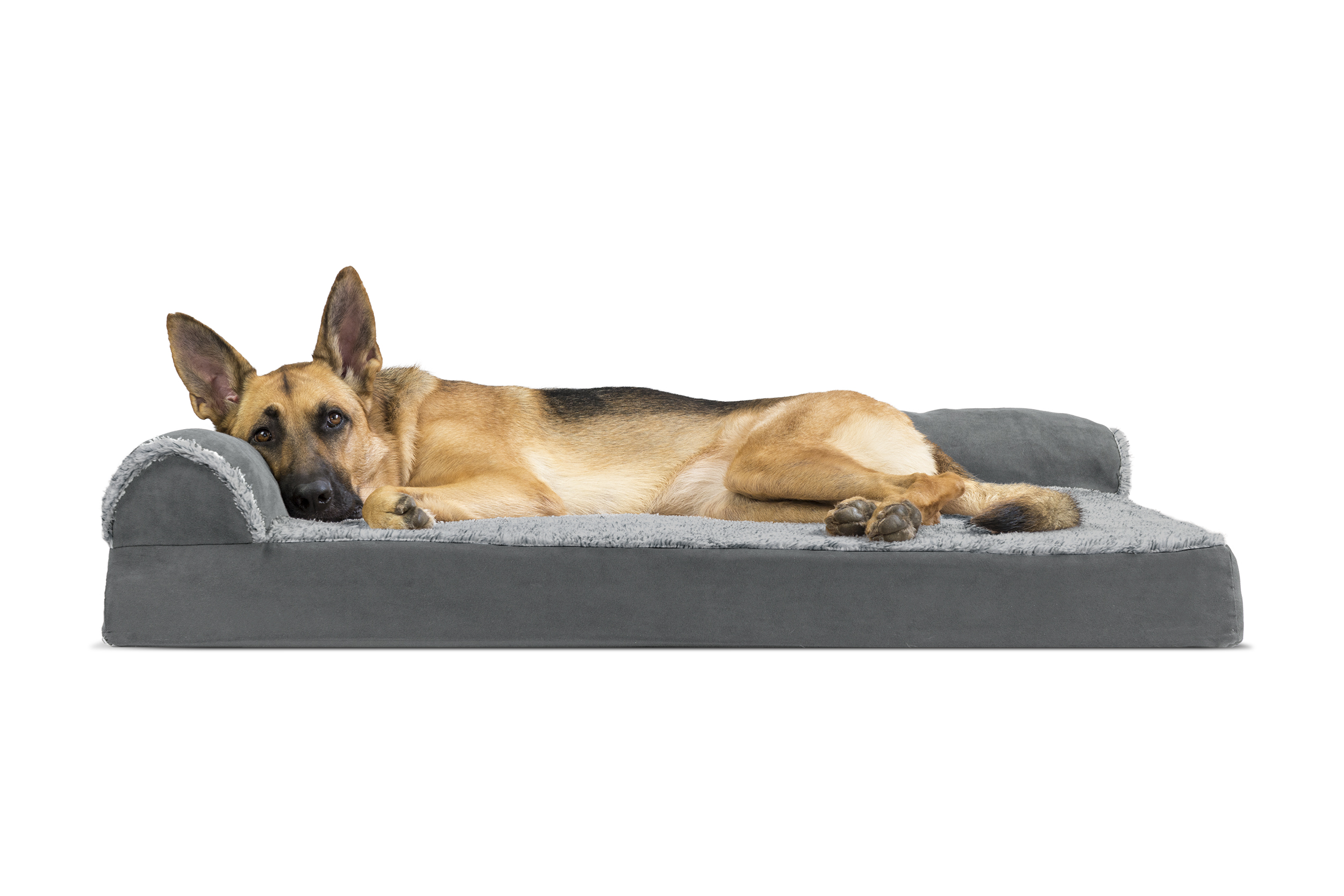Two-Tone-Faux-Fur-&-Suede-Deluxe-Chaise-  sc 1 st  eBay : pet chaise - Sectionals, Sofas & Couches