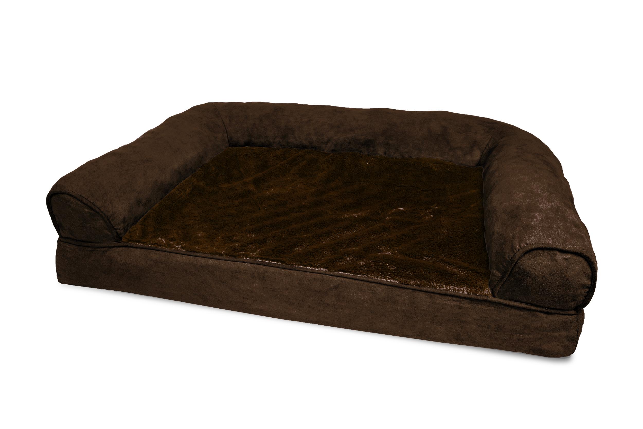 Furhaven Plush Suede Orthopedic Sofa Dog Bed