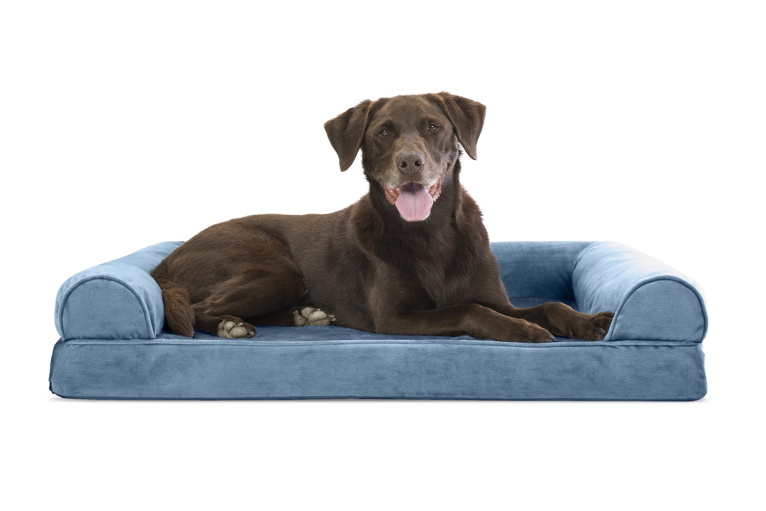 Faux Fur Velvet Orthopedic Sofa Pet Bed Dog Couch eBay