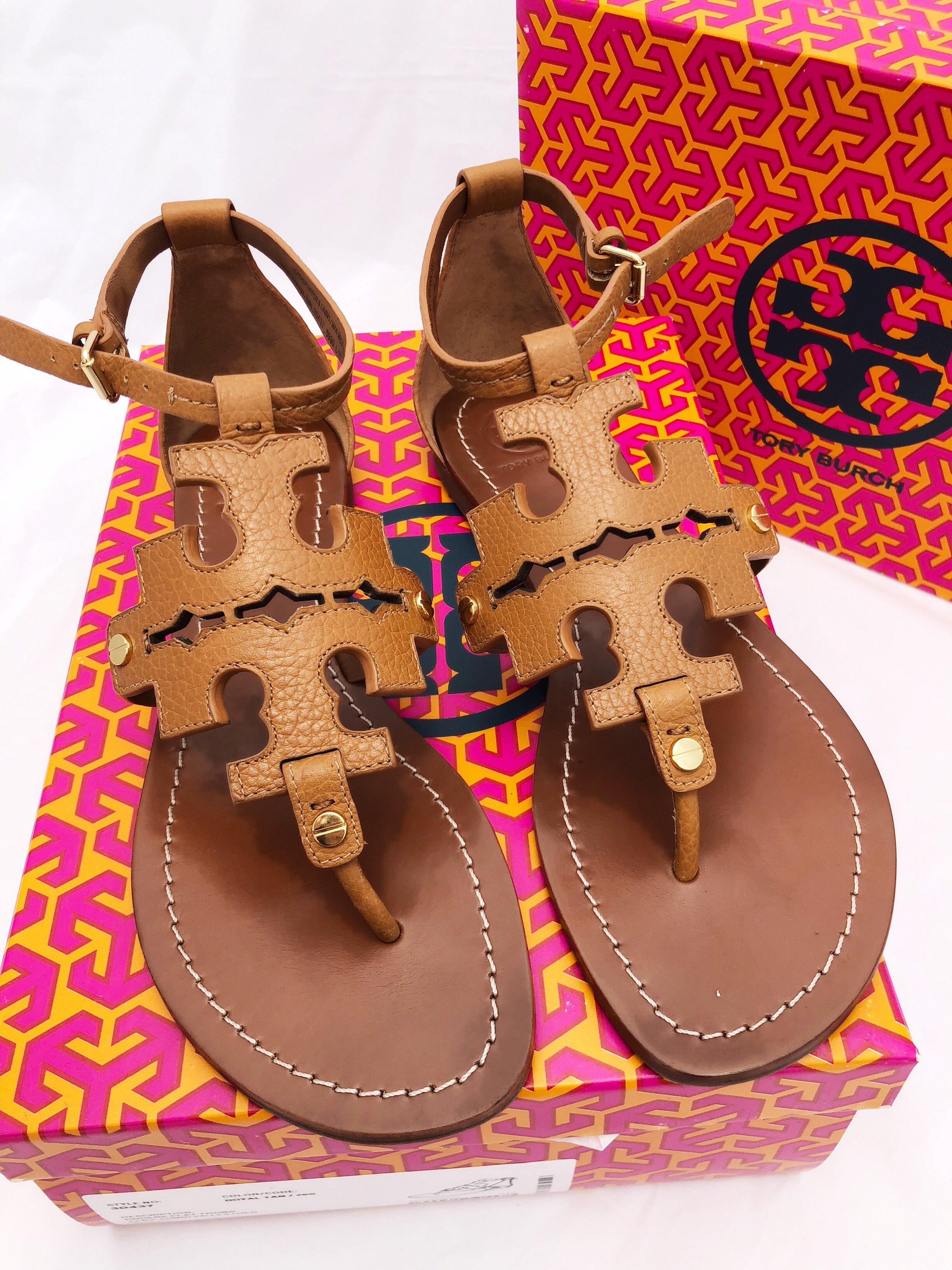 0155014b8b410 ... ireland tory burch phoebe flat thong sandals royal tan d1e2e 99656