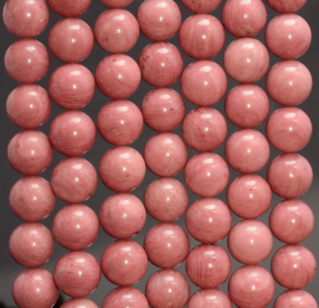 Pink Red Rhodonite Gemstone Grade Aaa Round 6mm 8mm 8mm 10mm Loose Beads A259
