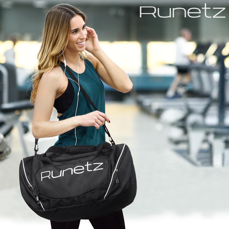 a1c66d31affc Runetz - Gym Bag Sport Shoulder Bag for Men   Women Duffel Large 20 ...