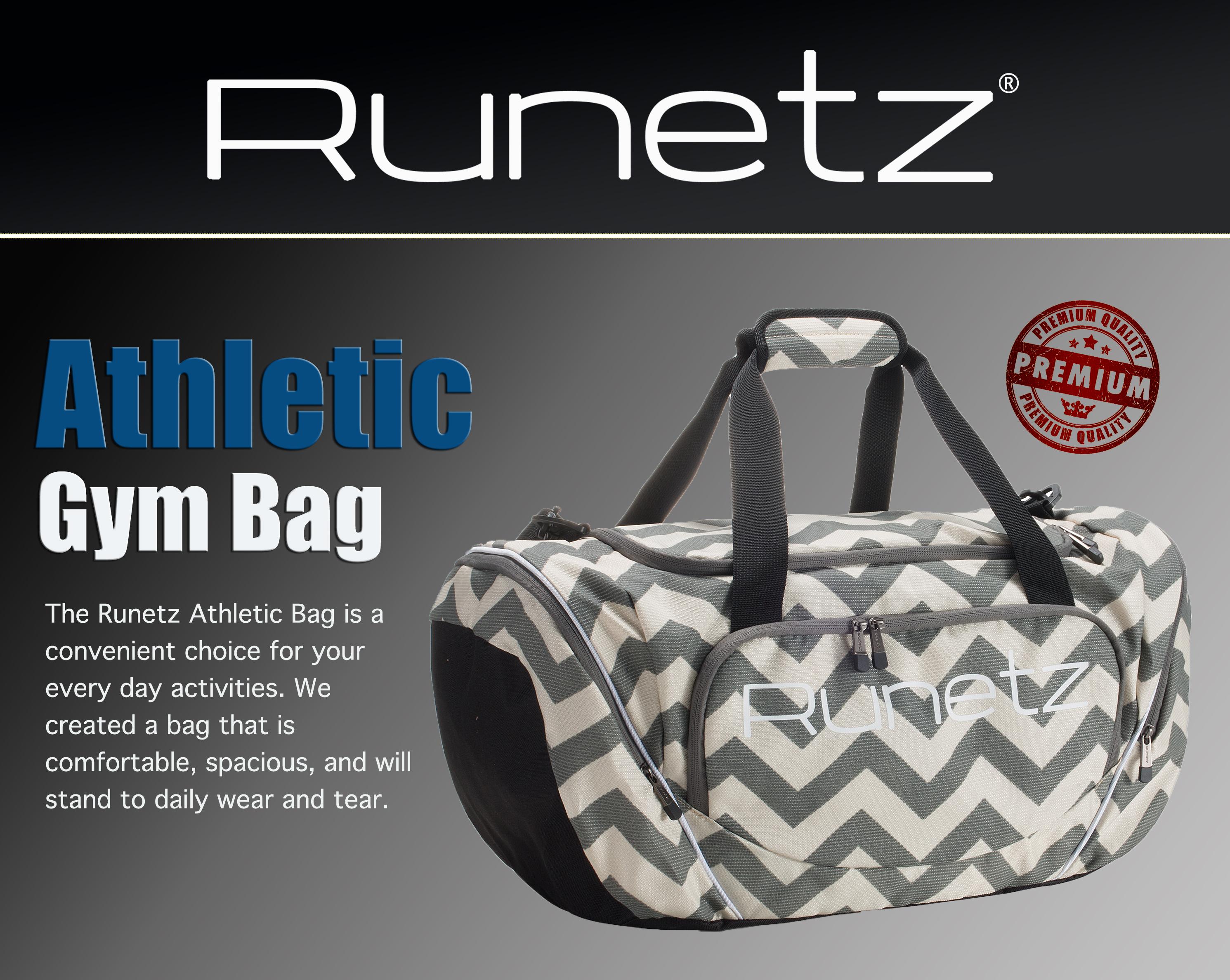 Runetz - Gym Bag Sport Shoulder Bag for Men   Women Duffel Large 20 ... 51bd8cb725