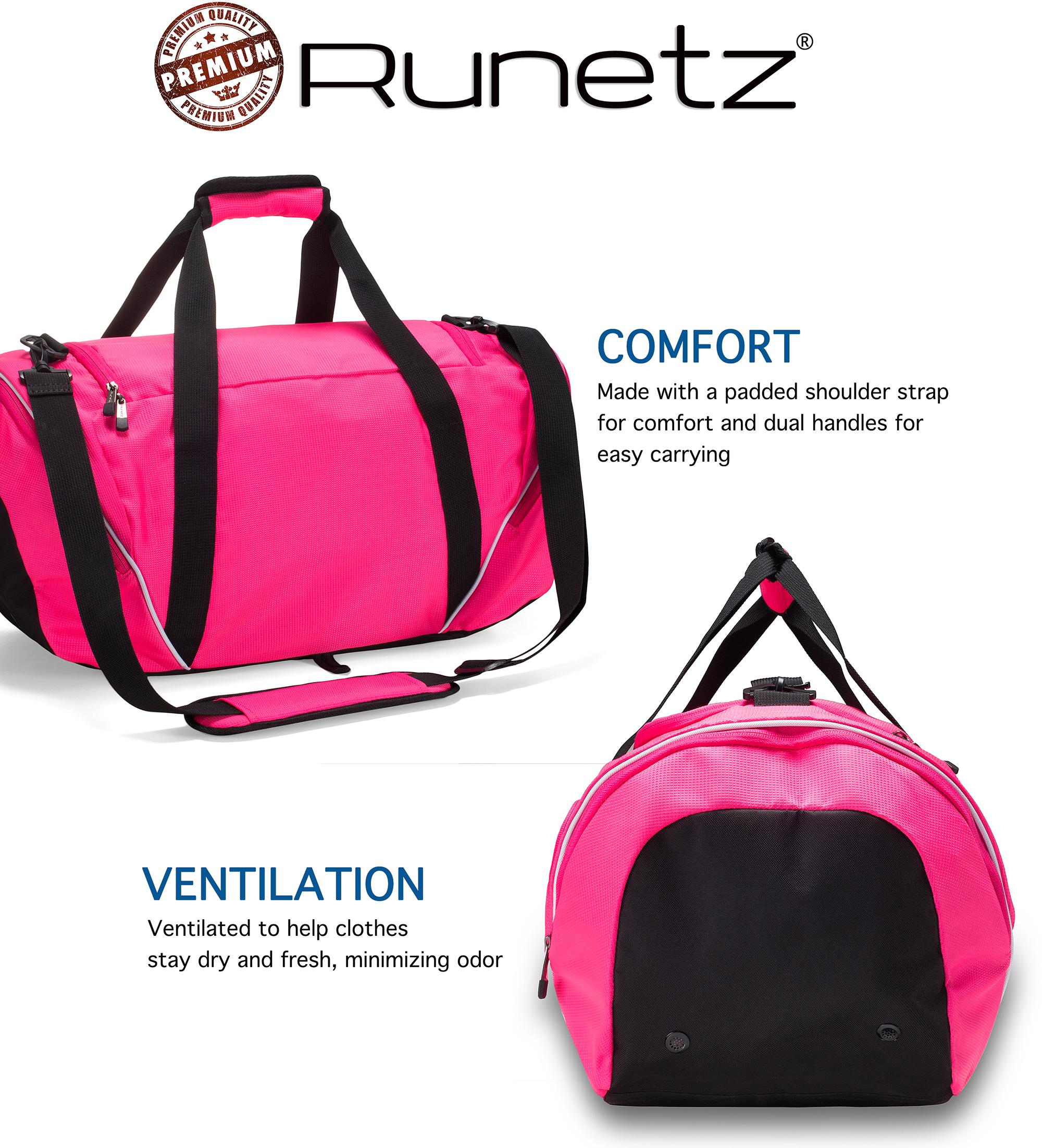 Runetz - Gym Bag Sport Shoulder Bag for Men   Women Duffel Large 20 ... 96df971048cf5