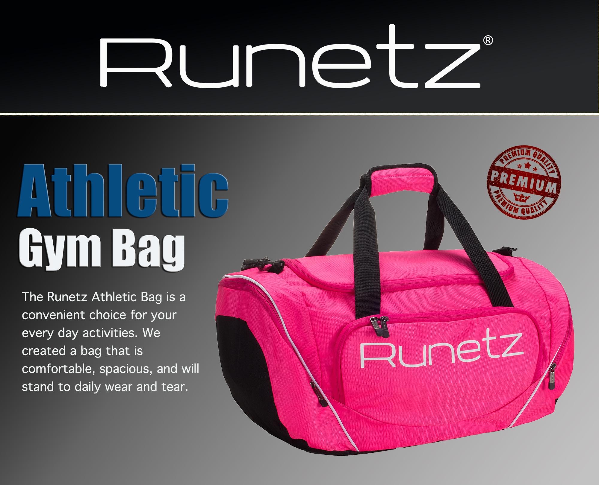 5b7f5553dc Runetz - Gym Bag Sport Shoulder Bag for Men   Women Duffel Large 20 ...