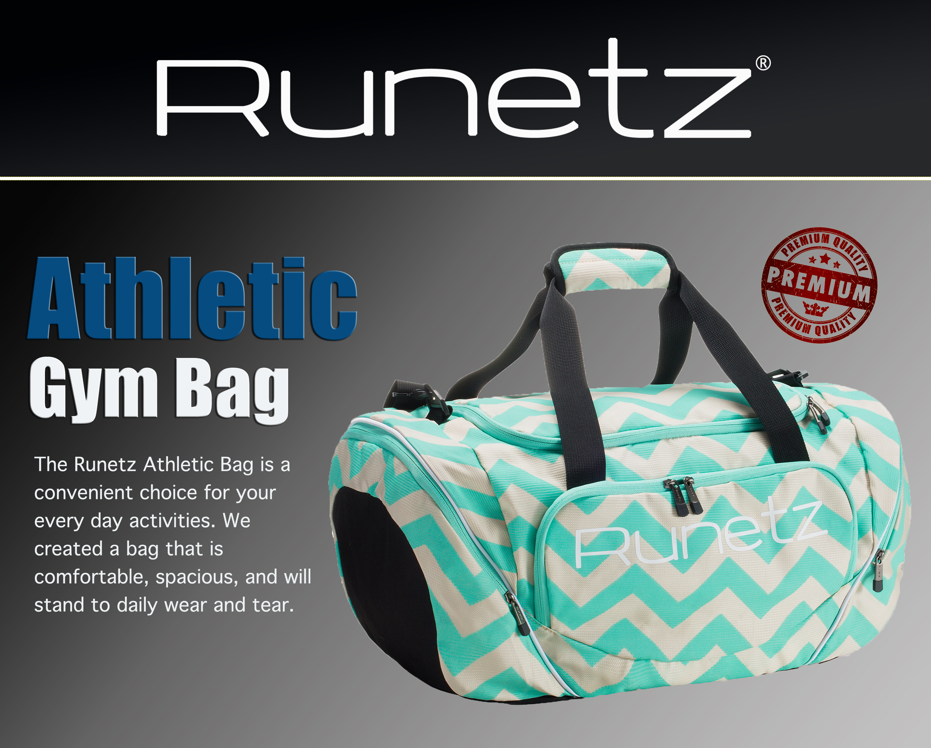 Runetz - Gym Bag Sport Shoulder Bag for Men   Women Duffel 20-inch Large 1105eb5f90d6c
