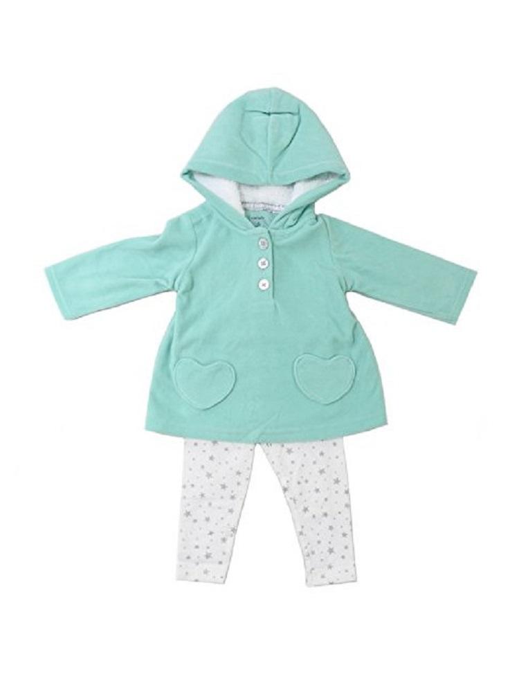 Carter/'s Baby Girls 2-Piece Hooded Pullover /& Legging Set