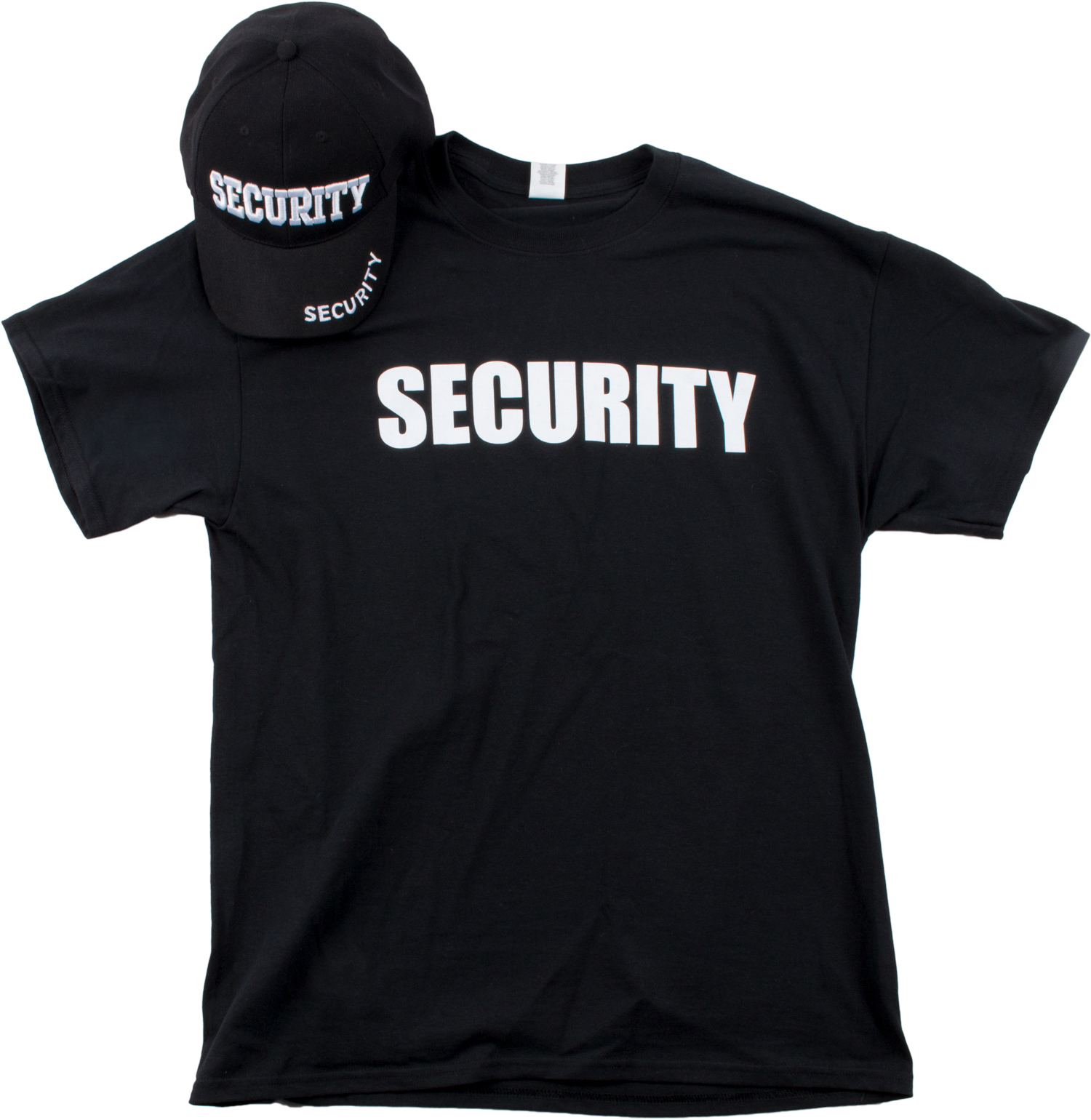 security hat t shirt bundle matching security guard officer